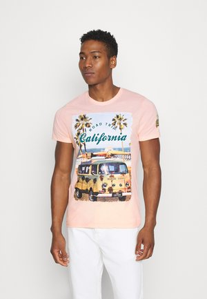 LAGOON - Triko spotiskem - summer pink