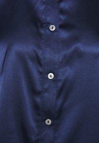 Miss Selfridge - TIE CUFF - Button-down blouse - navy - 2