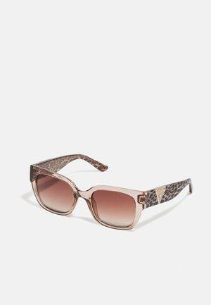 Sunglasses - shiny beige / brown mirror