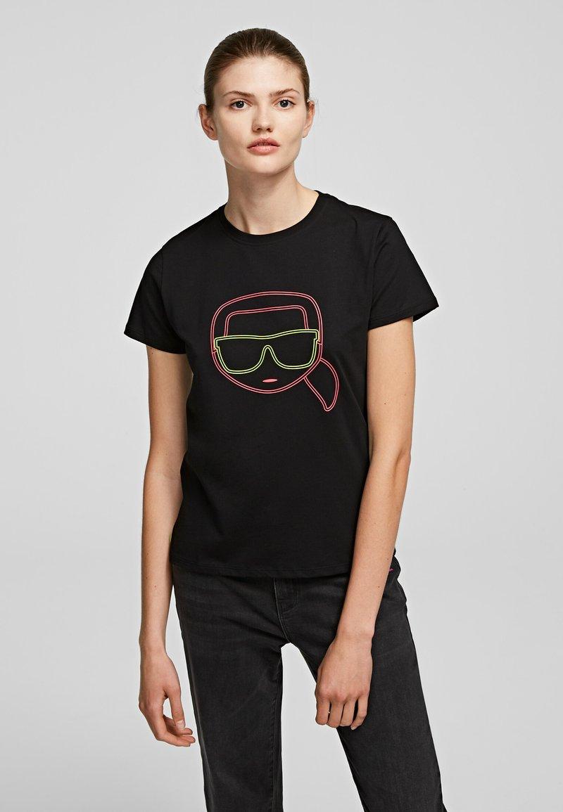 KARL LAGERFELD - T-shirt z nadrukiem - Black