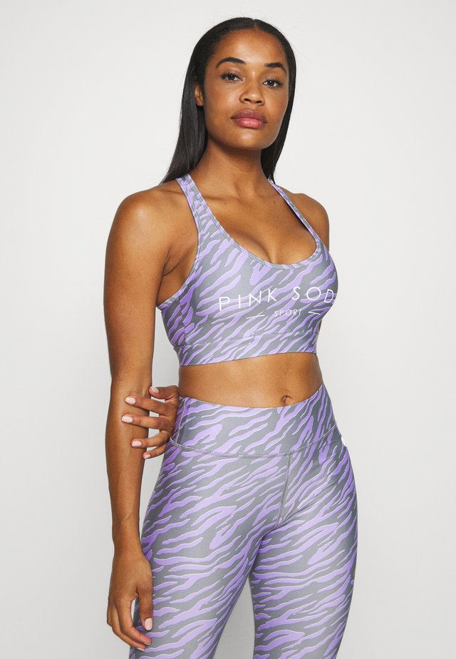 ZEBRA BRA - Medium support sports bra - lilac