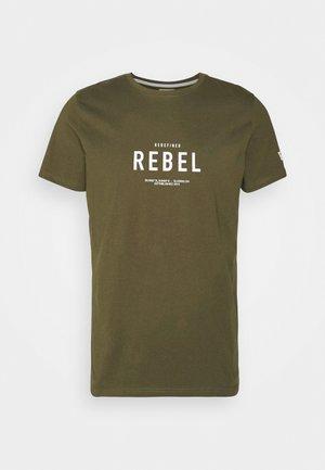 RONAN TEE - T-shirt print - dark olive