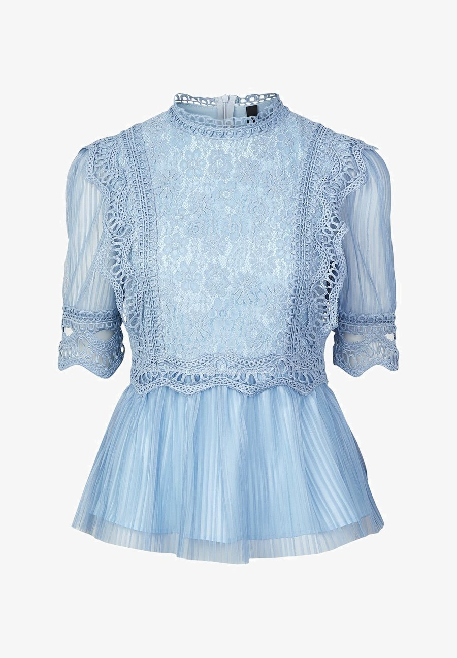 langarmshirt - dusty blue
