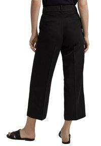 Esprit Collection - MIT BINDEGÜRTEL - Trousers - black - 6