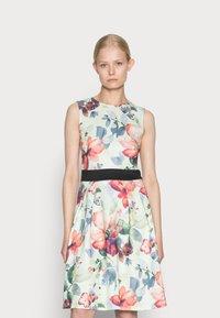 Anna Field - SLEEVELESS DRESS - Sukienka koktajlowa - light green/multi-coloured/pink - 0