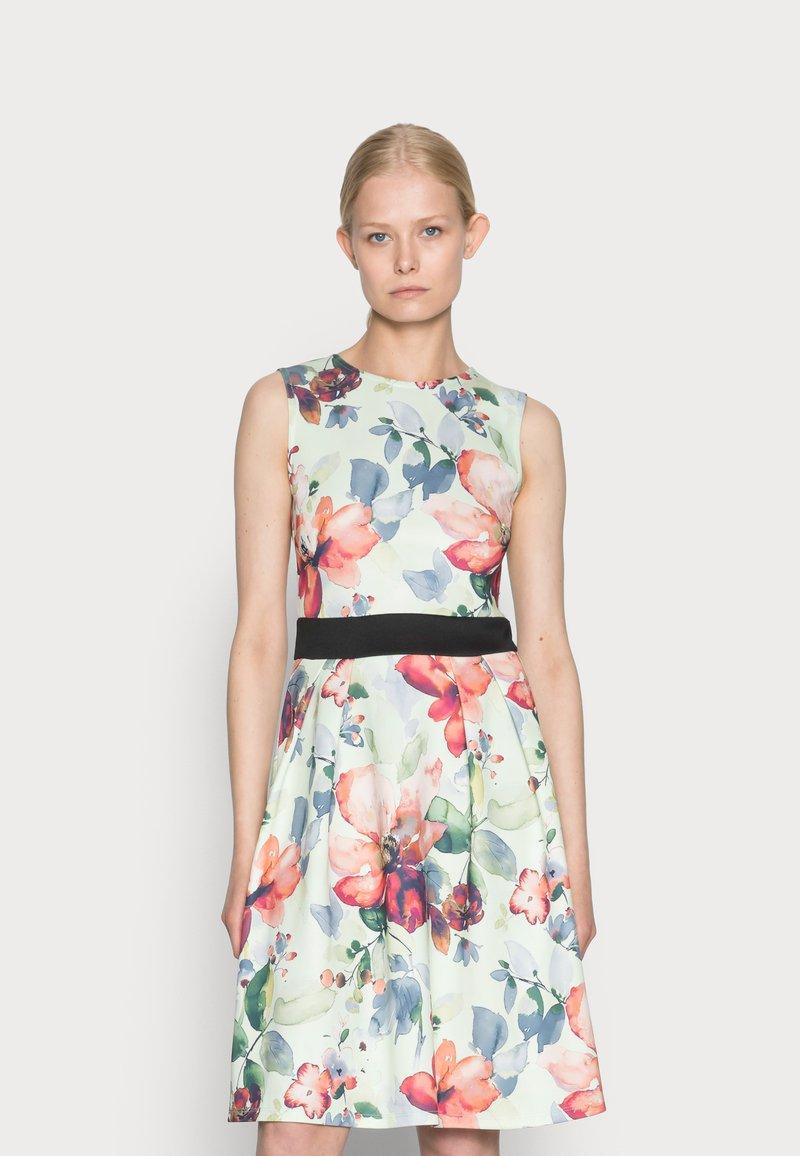 Anna Field - SLEEVELESS DRESS - Sukienka koktajlowa - light green/multi-coloured/pink