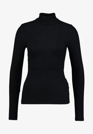 PCKAROLINE ROLLNECK - Long sleeved top - black