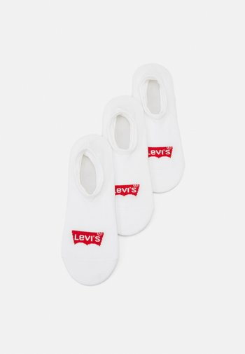FOOTIE HIGH RISE BATWING LOGO 3 PACK UNISEX - Trainer socks - white