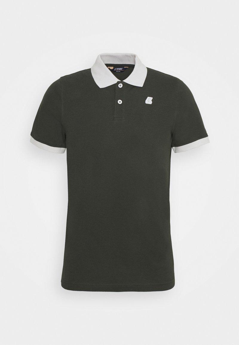 K-Way - VINCENT UNISEX - Polo shirt - black torba/grey
