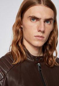 BOSS - JEEAN  - Leather jacket - dark brown - 4