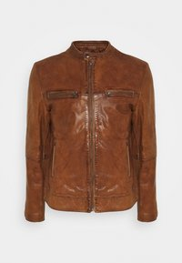 Goosecraft - KYLL BIKER - Leather jacket - tabacco - 0