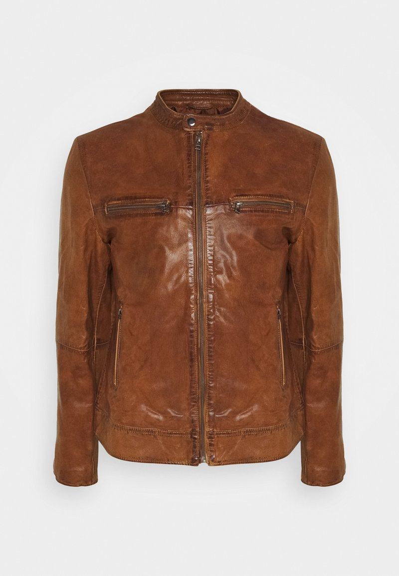 Goosecraft - KYLL BIKER - Leather jacket - tabacco