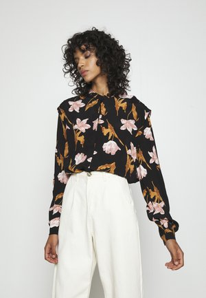 VMBETTY BUTTON - Button-down blouse - black