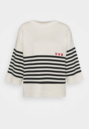 STRIPED - Jumper - ivory