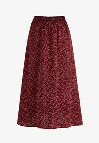 Noella - PAJA - A-line skirt - wine old rose flower - 3