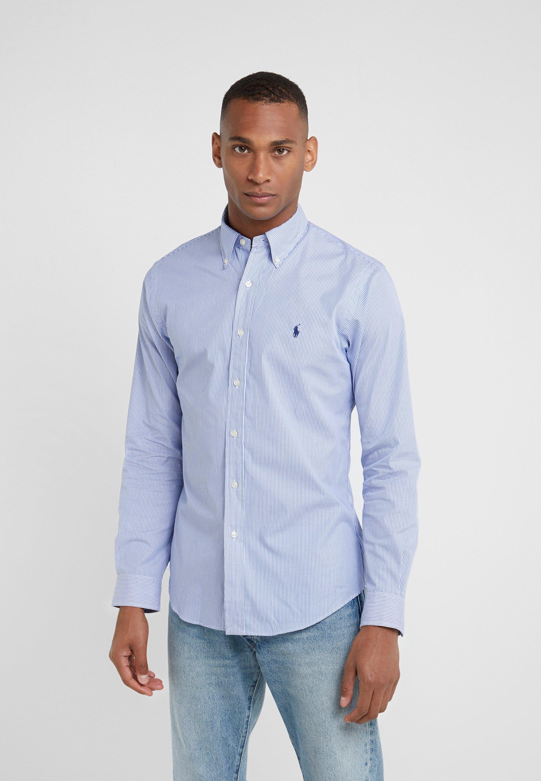 Polo Ralph Lauren Natural Slim Fit Overhemd Blue White Blauw Zalando Nl