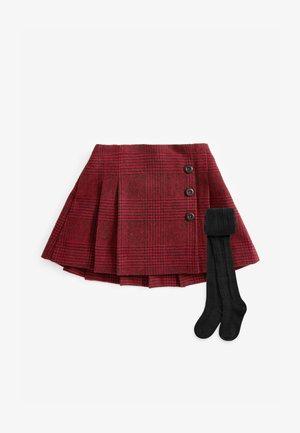 KILT AND SET - Leggings - dark red