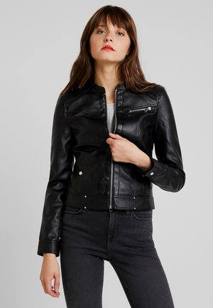 VMSHEENA SHORT JACKET - Faux leather jacket - black
