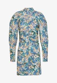 NA-KD - HIGH NECK ELASTIC DETAIL DRESS - Shift dress - yellow - 4
