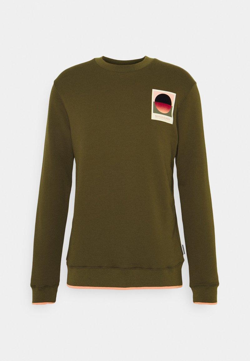Scotch & Soda - WITH SEASONAL ARTWORKS - Sweatshirt - military