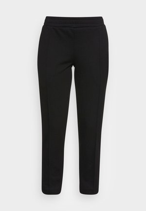 TRACK PANTS CROPPED - Trousers - black
