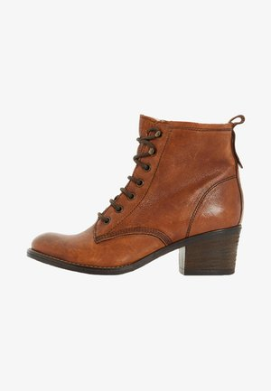 PATSIE D - Lace-up ankle boots - tan
