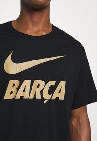 Nike Performance - FC BARCELONA TEE GROUND - Camiseta de deporte - black - 5