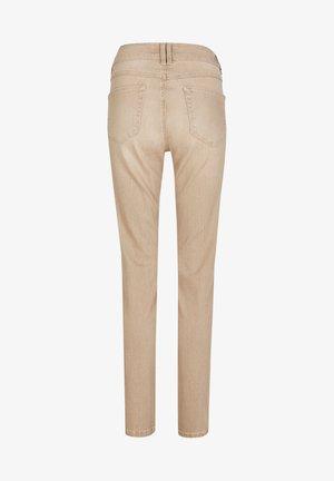 MIT DOPPELKNOPF-VERSCHLUSS - Jeans Skinny Fit - camel
