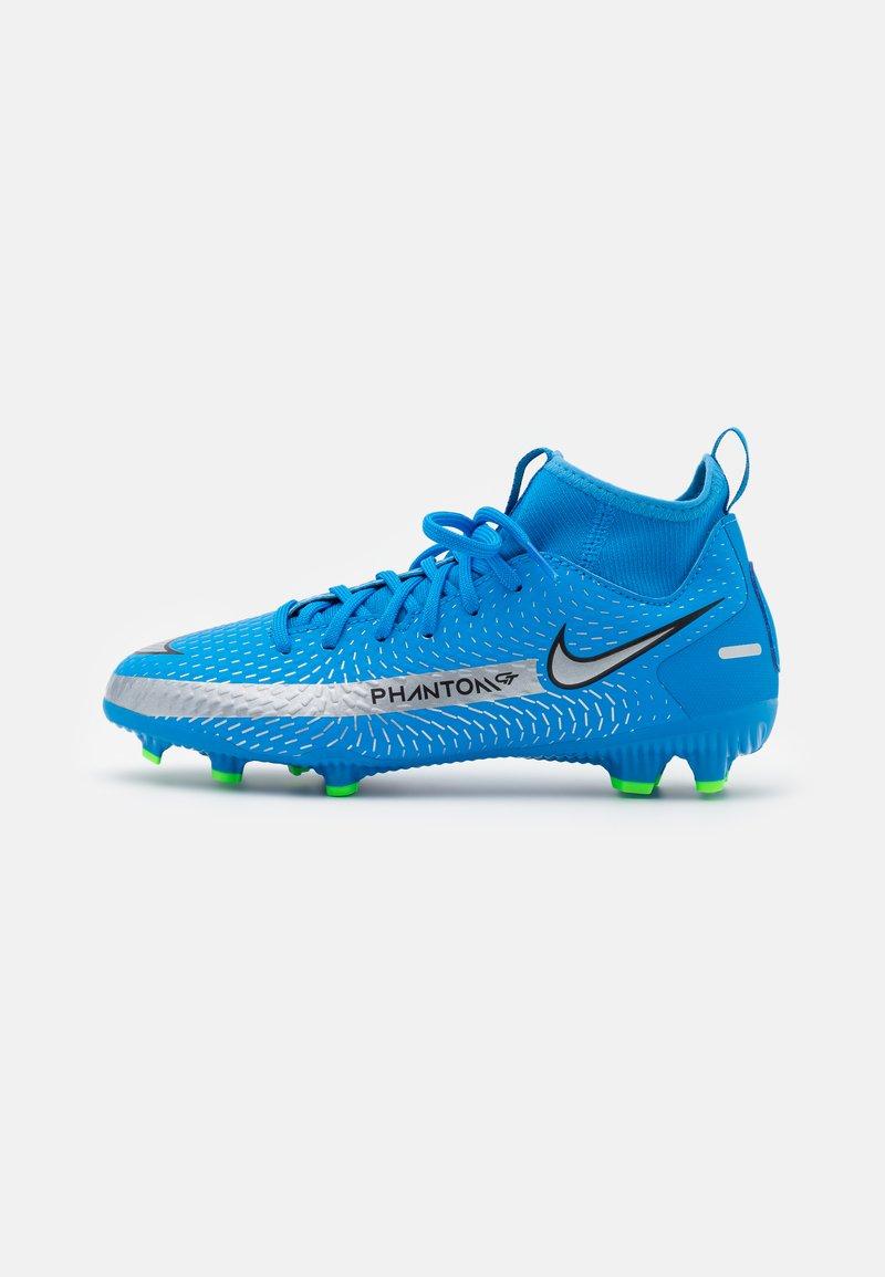 Nike Performance - JR PHANTOM GT ACADEMY DYNAMIC FIT MG UNISEX - Kopačky lisovky - photo blue/metallic silver/rage green