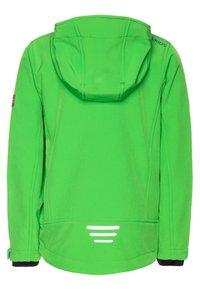 TrollKids - TROLLFJORD UNISEX - Soft shell jacket - bright green/med blue - 1