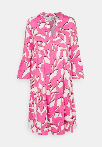 BOHO - Skjortekjole - white/pink
