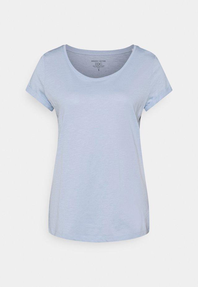 SLUB TEE - Basic T-shirt - light blue
