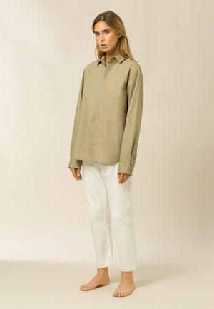 MELO - Button-down blouse - sage green