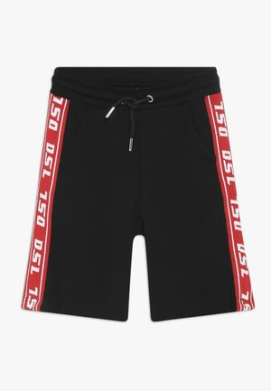 PHITOSHI - Tracksuit bottoms - black/red