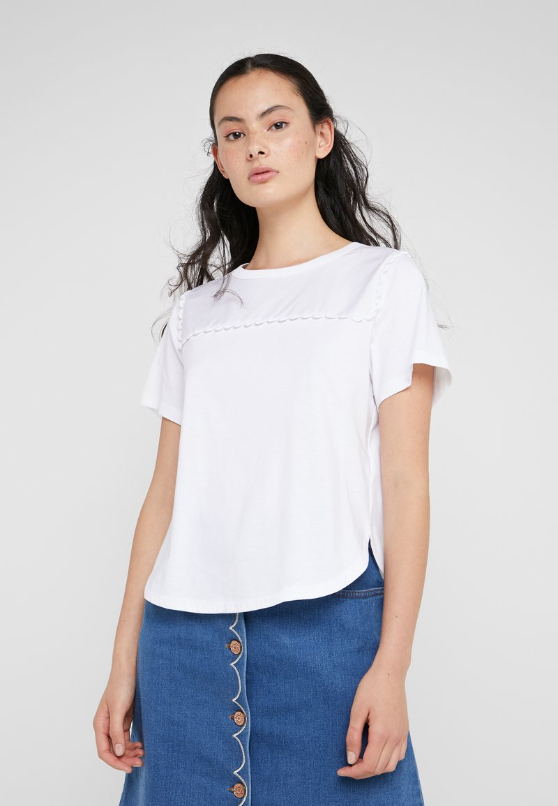 See by Chloé - T-shirt imprimé - white powder