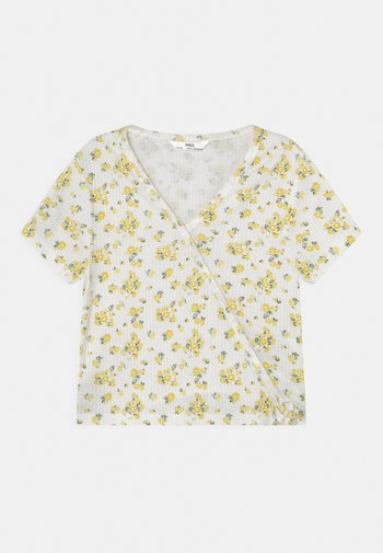 WRAP - Print T-shirt - white