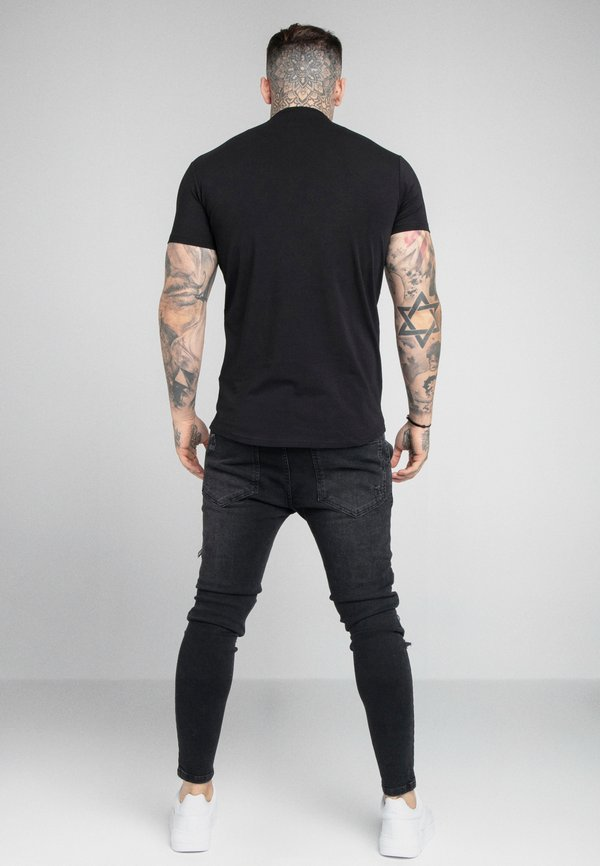 SIKSILK GRANDAD COLLAR - Koszulka polo - black/czarny Odzież Męska WBCS