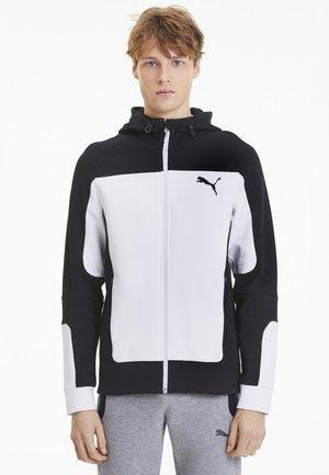"PUMA HERREN SWEATSHIRTJACKE ""EVOSTRIPE"" - Zip-up hoodie - white"
