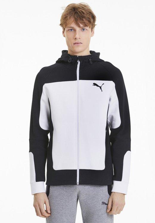 """Puma - PUMA HERREN SWEATSHIRTJACKE """"EVOSTRIPE"""" - Zip-up hoodie - white"""