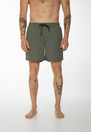 FASTER - Swimming shorts - grey green