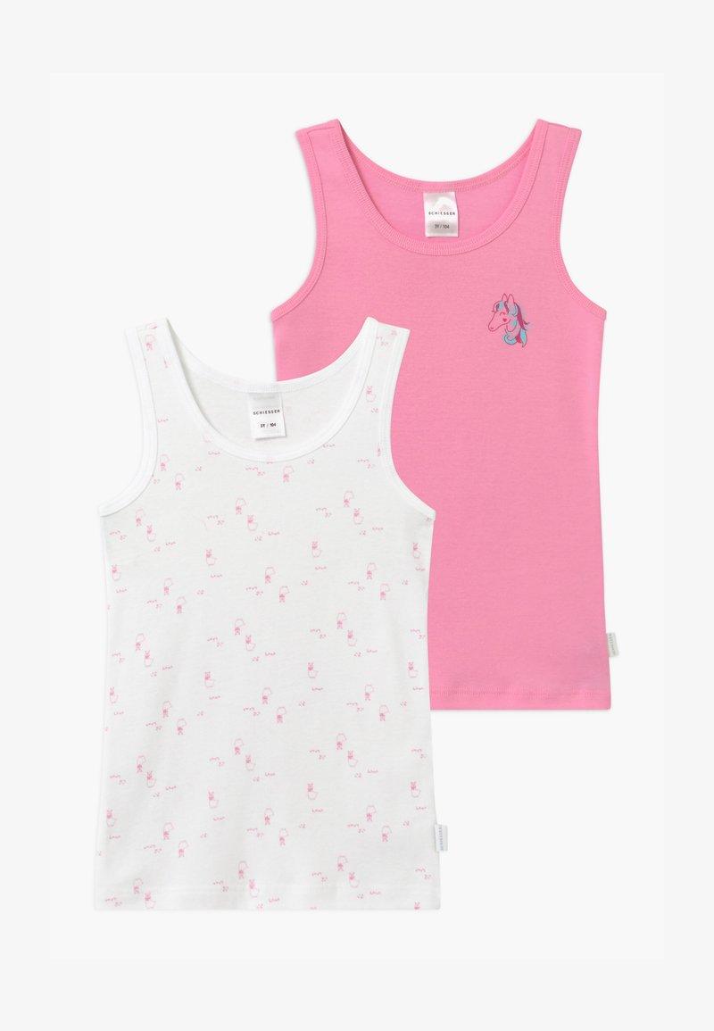 Schiesser - KIDS 2 PACK - Undershirt - pink