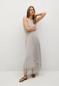 Mango - A-line skirt - silver - 1