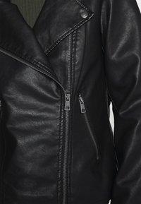 ONLY - ONLMELISA BIKER - Chaqueta de cuero sintético - black - 4