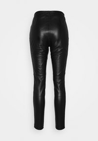 Object - OBJMASE PANT - Leather trousers - black - 1
