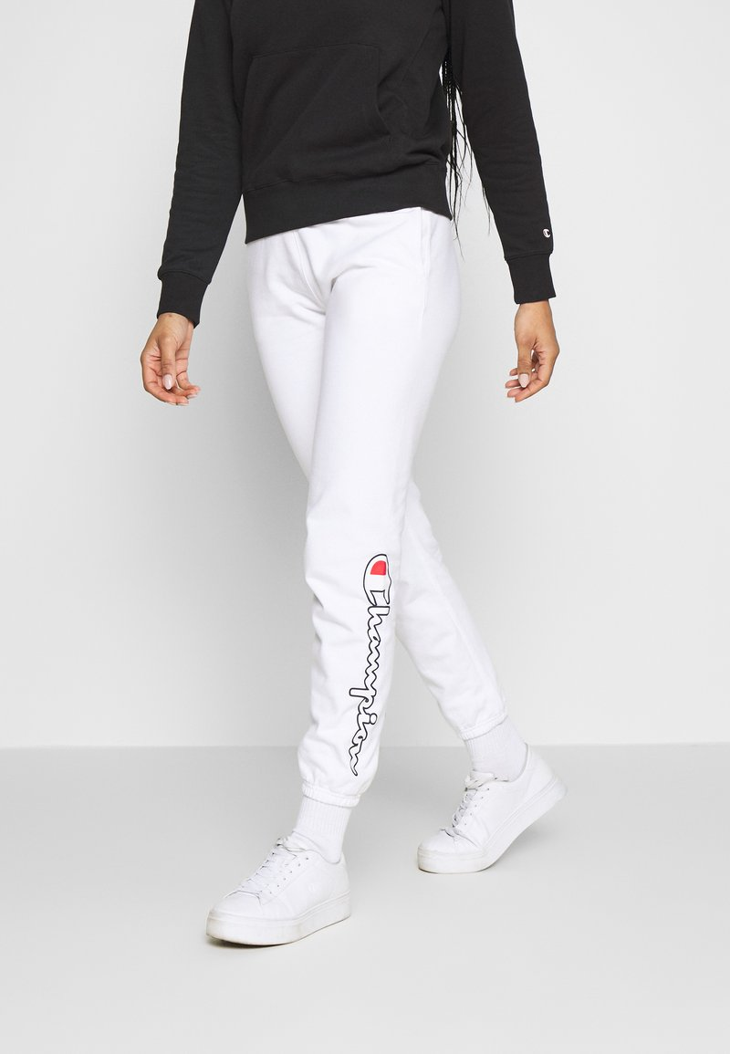 Champion Rochester - ELASTIC CUFF PANTS - Pantalones deportivos - white