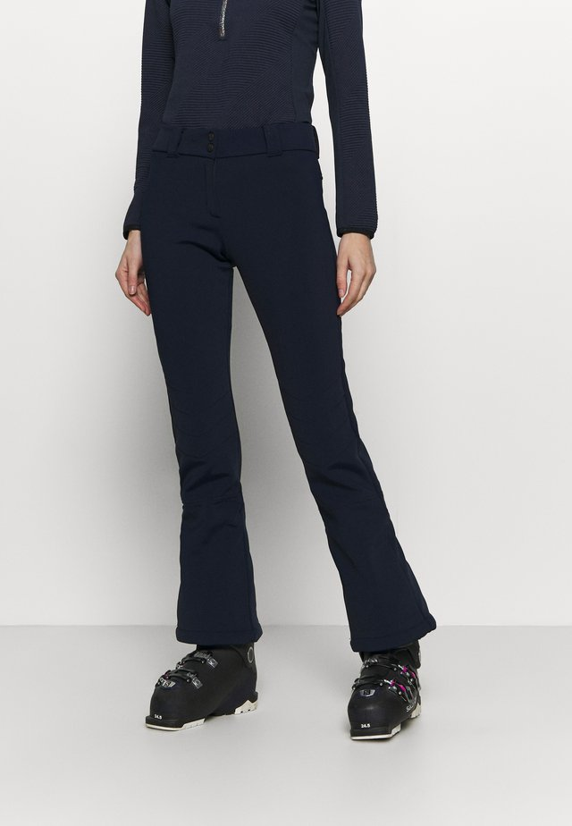 WOMAN LONG PANT WITH INNER GAITER - Talvihousut - blue