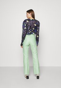 HOSBJERG - VALORA PANTS - Leather trousers - mint - 2