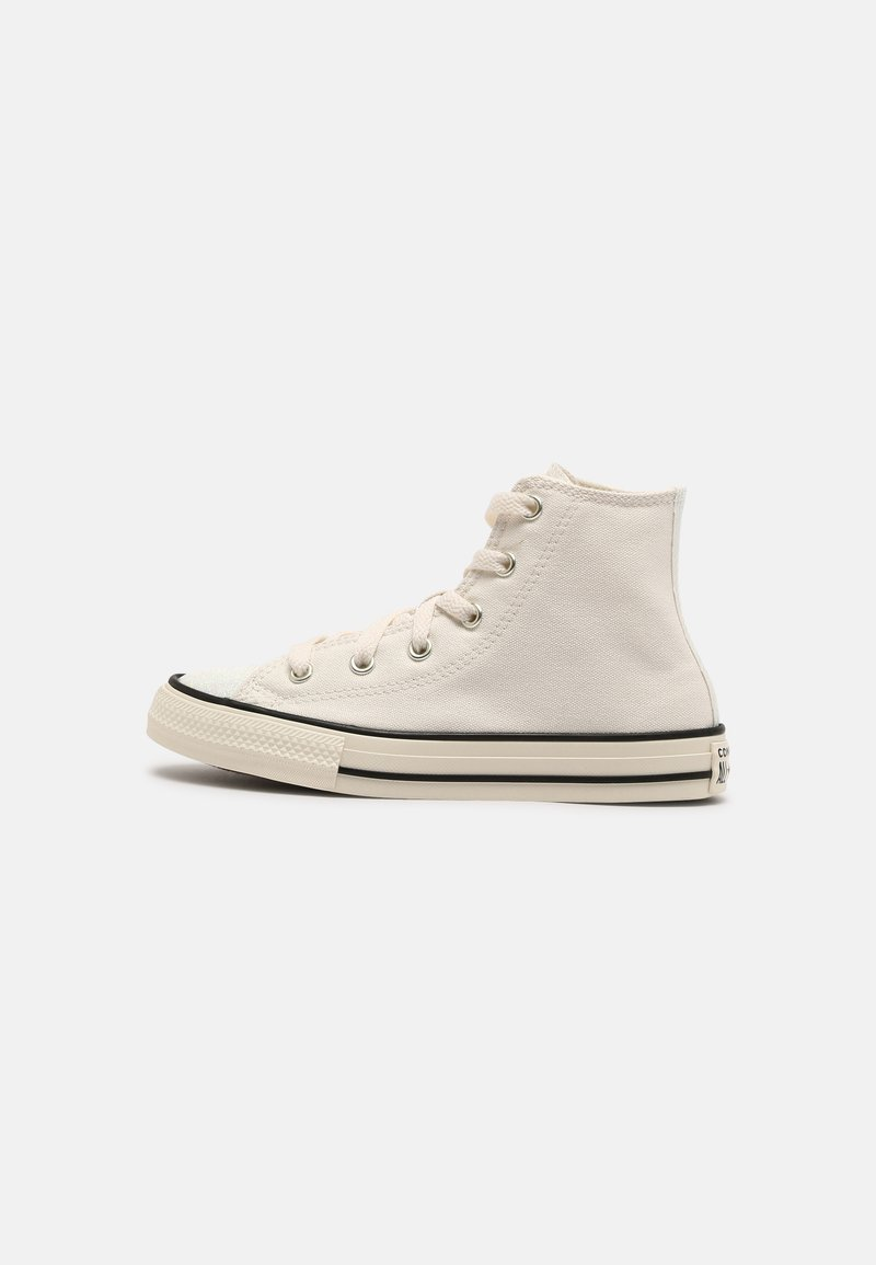 Converse - CHUCK TAYLOR ALL STAR GLITTER HI UNISEX - Sneakers hoog - egret/black