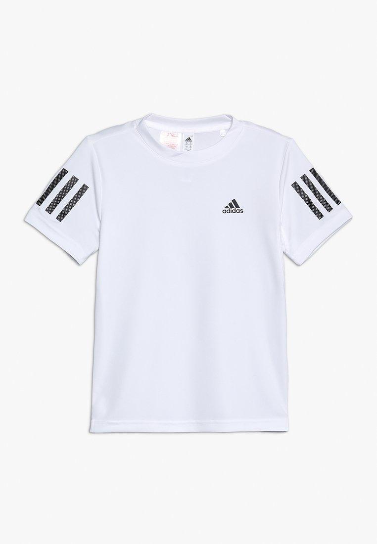 adidas Performance - CLUB TEE - T-Shirt print - white/black