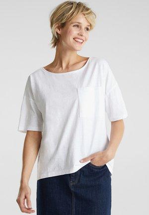 SHIRT MIT TASCHE, 100% ORGANIC COTTON - Basic T-shirt - white